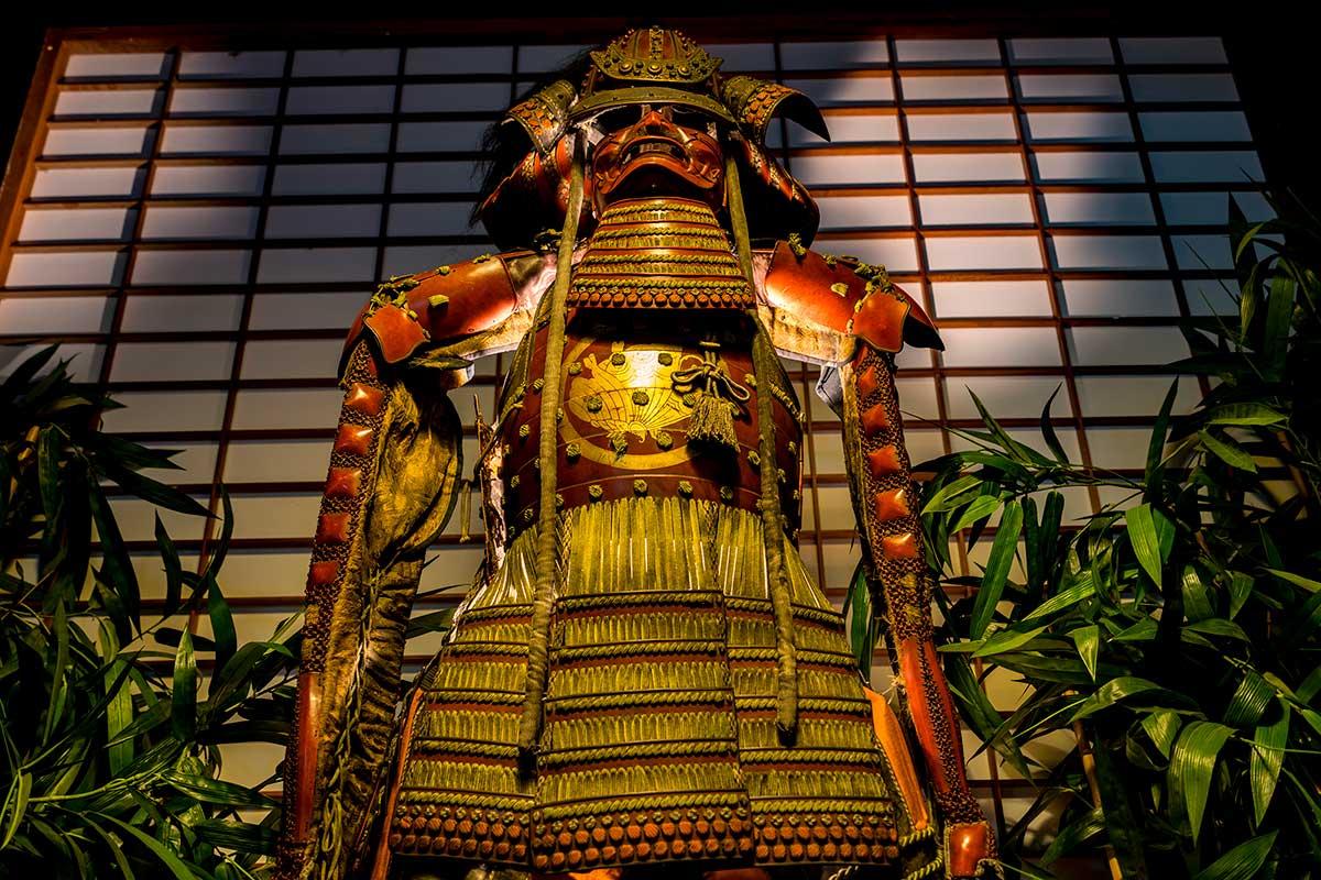 Sydney Props Photo Studio - Studio 5 Green Screen - Samurai Display in Antechamber