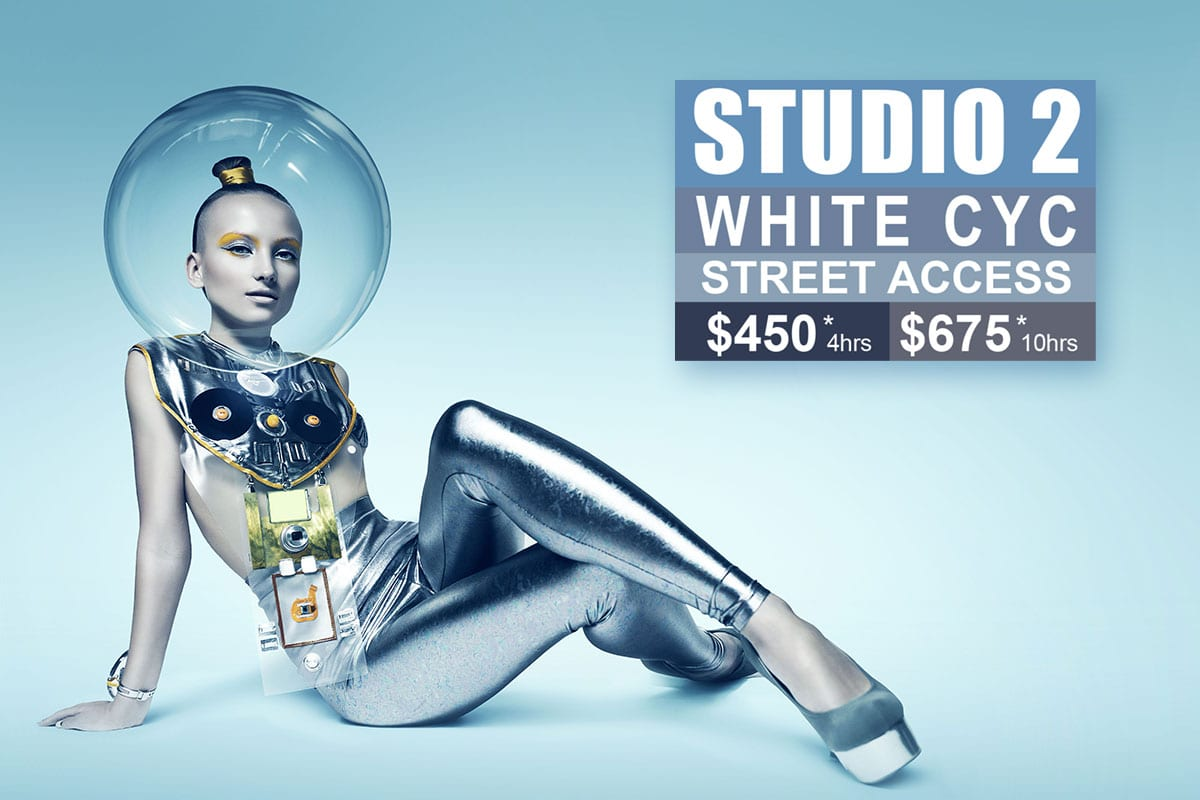 Sydney Props Photo Studio - Studio 2 White Cyc.
