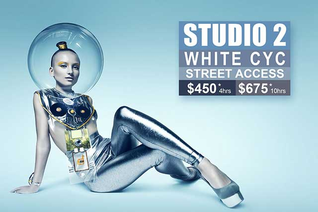 Studio 2 White Cyc Photographic Studio Hire in Sydney