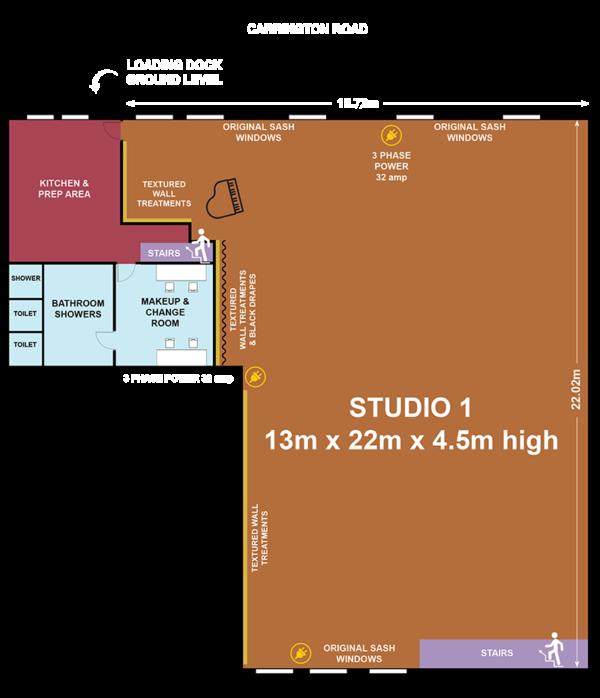 Studio 1 Warehouse Floor Plan
