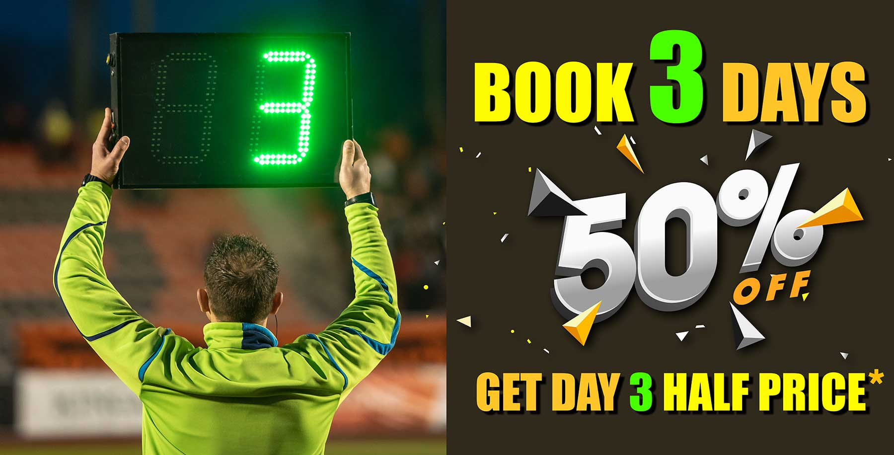 Book 3 Days and get 50% off the 3rd Day Hire Fee - Sydney Props Photo Studios