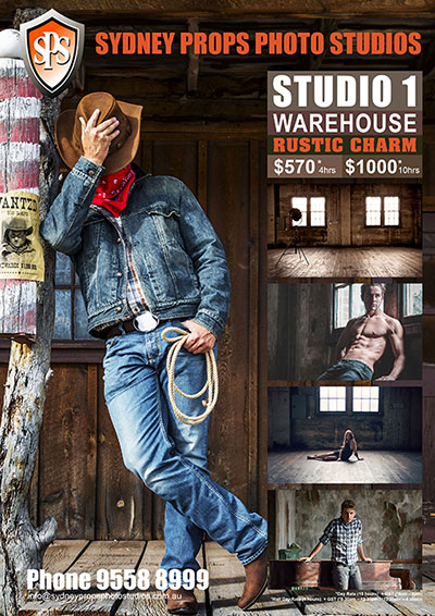 Rustic Warehouse Photographic Studio for Hire in Sydney