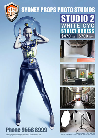 White Cyclorama Photographic Studio for Hire in Sydney