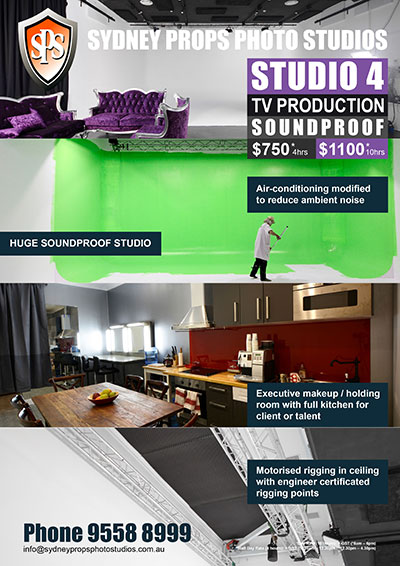 Large Soundproof White Cyc TV Production Studio for Hire in Sydney