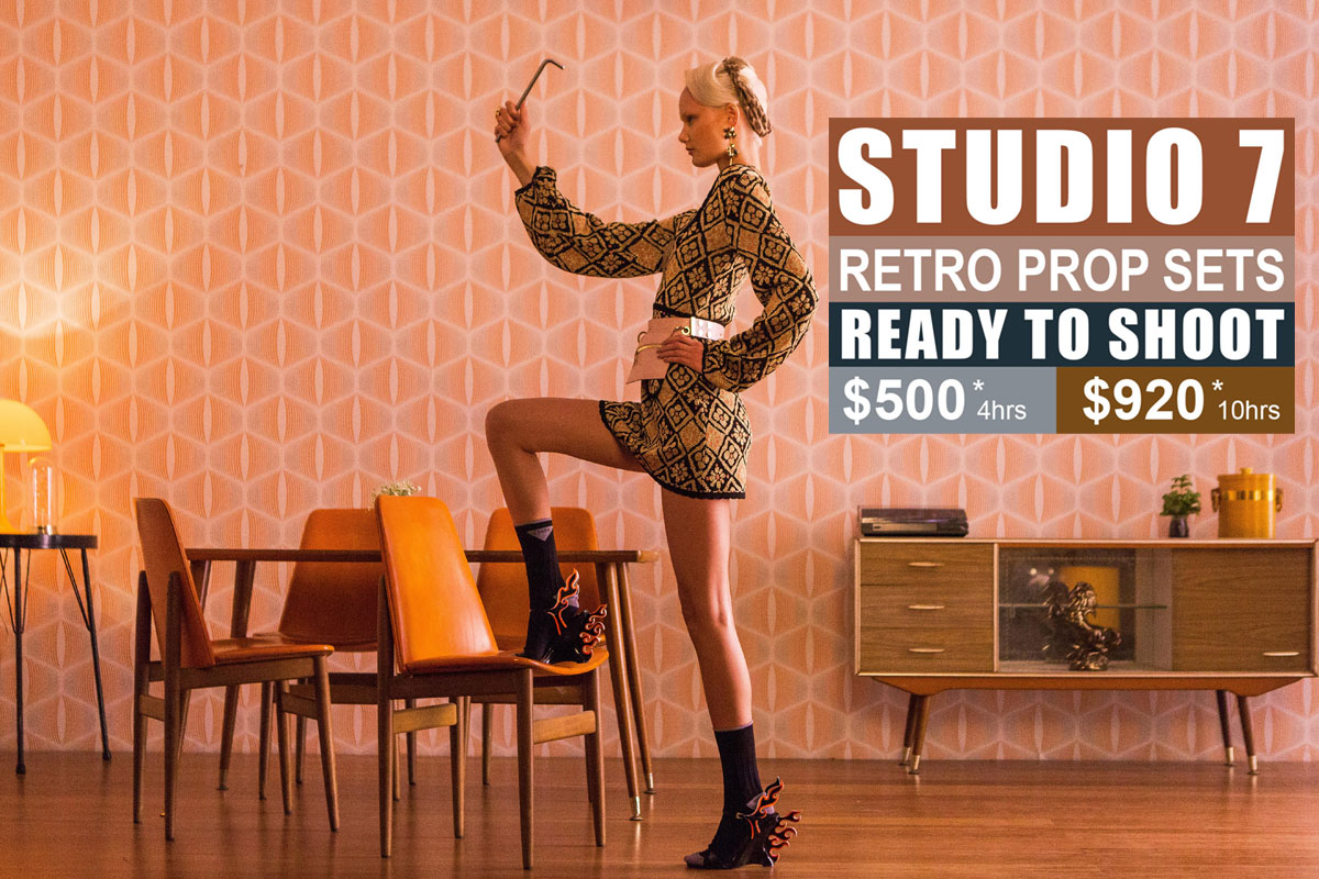 Studio 7 Retro Prop Sets Photographic Studio Hire in Sydney